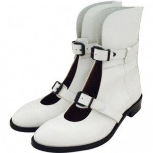 ACNE white leather boots 38IT / 8US